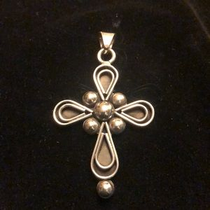 Jewelry - Artisan Crafted Beaded Sterling Cross pendant
